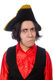 Funny pirate isolated on the white Stock Photography