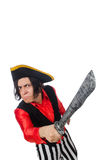 Funny pirate isolated on the white Royalty Free Stock Photo