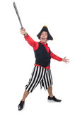 Funny pirate isolated on the white Royalty Free Stock Photos