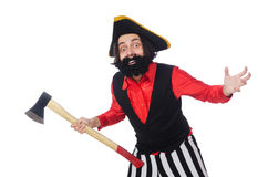 Funny pirate isolated on the white Royalty Free Stock Images