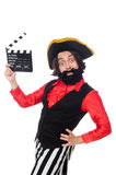 Funny pirate isolated on the white Royalty Free Stock Image