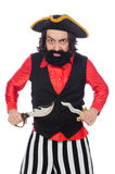 Funny pirate isolated on the white Stock Photo