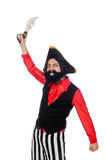 Funny pirate isolated on the white Stock Image