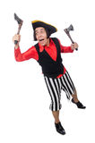 The funny pirate isolated on the white Royalty Free Stock Images