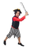 The funny pirate isolated on the white Royalty Free Stock Photography