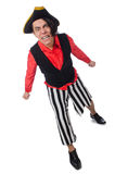 The funny pirate isolated on the white Royalty Free Stock Image
