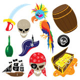 Funny pirate set Royalty Free Stock Images