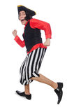 The funny pirate on the white Royalty Free Stock Image