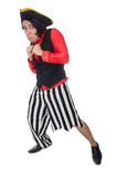The funny pirate on the white Royalty Free Stock Images