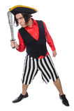 The funny pirate on the white Royalty Free Stock Photo