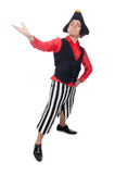 The funny pirate on the white Royalty Free Stock Photography