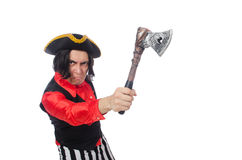 The funny pirate on the white Royalty Free Stock Photos