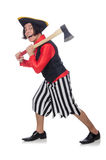 The funny pirate on the white Stock Image
