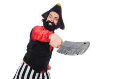 The funny pirate on the white Stock Photography