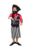 The funny pirate on the white Stock Photo