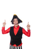 The funny pirate on the white Stock Photos