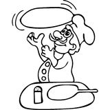 Funny Pizza cook coloring pages Stock Photography