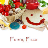 Funny pizza. Royalty Free Stock Photo