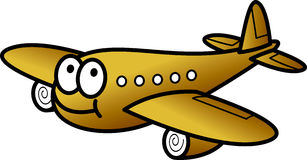 Funny plane. Vector illustration of funny plane Royalty Free Stock Photo