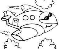 Funny plane coloring pages Stock Images
