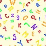 Funny plastic letter. Alphabet seamless pattern . Funny plastic letter vector illustration. Alphabet seamless pattern background Stock Photos