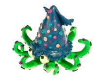 Funny plasticine squid Stock Images