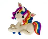 Funny plasticine Unicorn Royalty Free Stock Photo