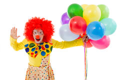Funny playful clown Stock Photos