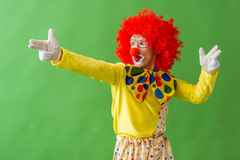 Funny playful clown Stock Photography