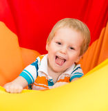 Funny playful kid child boy Stock Images