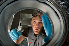 Funny plumber Royalty Free Stock Image