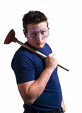 Funny Plumber Stock Photography