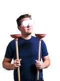 funny plumber portrait Στοκ εικόνες με δικαίωμα ελεύθερης χρήσης