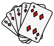 Funny poker cards Stock Image