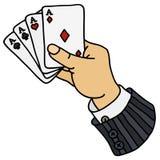 Funny poker cards Stock Photos