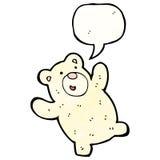 Funny polar bear with speech bubble Royalty Free Stock Photos