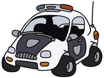 Funny police car Royalty Free Stock Image