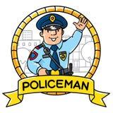 Funny policeman. Children  illustration Royalty Free Stock Photo