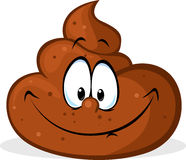 Funny poo cartoon - vector illustration Stock Photo