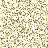 Funny popcorn seamless pattern. Vector illustration. Cinema background. Can be use for backdrop, wrapping paper, cards, etc Royalty Free Stock Photo
