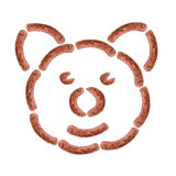 Funny pork sausage face. Meat Royalty Free Stock Image