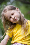 Funny portrait. Closeup portrait of funny little caucasian girl Royalty Free Stock Image