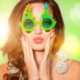 Funny portrait of beautiful girl Stock Image