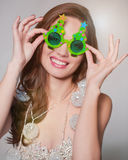 Funny portrait of beautiful girl Royalty Free Stock Image