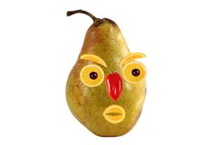 Funny portrait made from pears  and oranges Royalty Free Stock Image