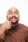 Funny portrait of a man with emotion on her face Royalty Free Stock Image
