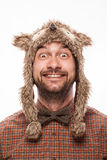 Funny portrait of a man with emotion on her face Royalty Free Stock Images