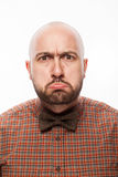 Funny portrait of a man with emotion on her face Royalty Free Stock Photo