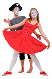 Funny portrait of mimes Stock Photography