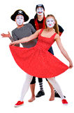 Funny portrait of mimes Royalty Free Stock Images